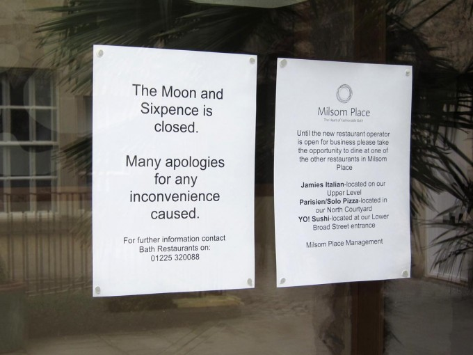 Moon and Sixpence Closed